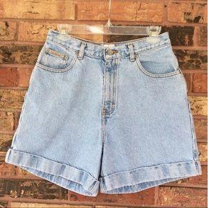 "Calvin Klein 10 High Waist Mom Jean Shorts 5"" Ins"